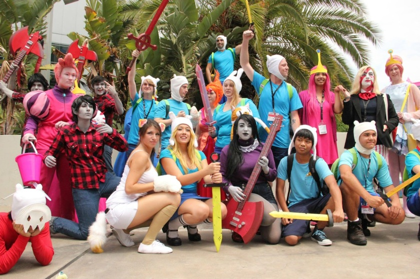 FIg. 8: Adventure Time fans will interpret and reinterpret the gender and identities of their favorite characters via activities such as cosplay. Image retrieved from: http://tinyurl.com/l4cnua8